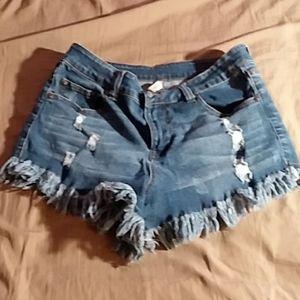 ELAN Distressed Shorts Size L